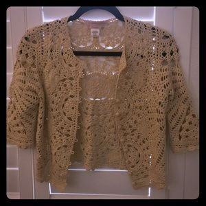 Max Azria Collection Crochet Jacket cardigan